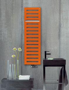 BudujeUrzadzam.pl - Grzejnik łazienkowy pomarańczowy