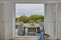 Enjoy views of the ocean from the living area