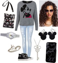 """Mickey Mouse C:"" by sexysavvy ❤ liked on Polyvore"