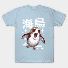 Kawaii Sea Bird T-Shirt - Porg T-Shirt is $14 today at TeePublic!