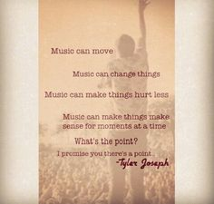 Tyler Joseph of Twenty One Pilots This is why I love this band.