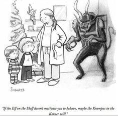 Krampus in the Korner Dark Christmas, Christmas Humor, Christmas Time, Xmas, Christmas Crafts, Anti Santa, Yule Celebration, Creepy, Scary