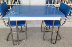 Vintage 50's kitchenette table set found at Homestead Handcrafts, San Antonio, Texas.