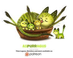 Daily 1349. Aspurragus by Cryptid-Creations.deviantart.com on @DeviantArt