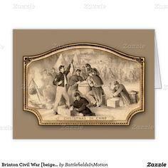 Brinton Civil War [beige] Christmas Card