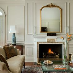 Traditional Home full wall moulding Design Ideas, Pictures, Remodel and Decor