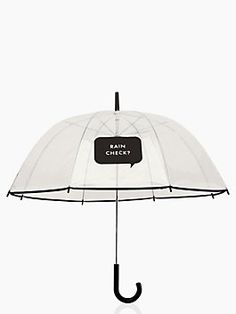 when was the last time you actually wished for rain? you'll be hoping for afternoon showers just so this witty umbrella can get some exposure (and, undoubtedly, some commentary.) we love how it earns its place as a stylish accessory, you'll love how it will keep a rain-soaked bad hair day at bay.