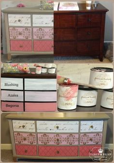 """How to paint your dresser """"fancy"""" style!"""