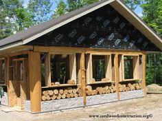 Cordwood Cabin Building Blog