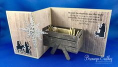 handmade Christmas card ... free tutorial with Child of Bethlehem suite ... Pop-Up manger ... Z-Fold format .... from  addinktive designs ...