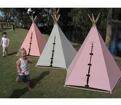 I think the kids would love playing in the teepees with flashlights one night...