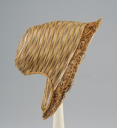 1855 straw and horsehair bonnet