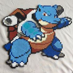 Blastoise Pokemon hama beads by beckiiedonlin