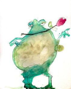 the Mating Dance http://ift.tt/1PiQe4t Art watercolor acrylic doodle art painting artistsoftumblr watercolor