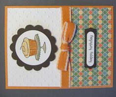 Easy Events stamp set and Just Add Cake designer series paper