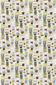 Cups and Saucers fabric by Prestigious