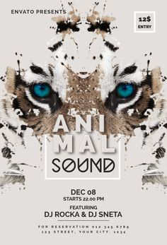 "Check out my @Behance project: ""Animal Sound Flyer Template"" https://www.behance.net/gallery/59334587/Animal-Sound-Flyer-Template"