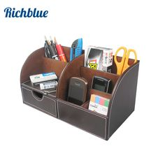 Office & School Supplies Provided Multifunctional Office Desktop Decor Storage Box Leather Stationery Organizer Pen Pencils Remote Control Mobile Phone Holder Ideal Gift For All Occasions Desk Accessories & Organizer