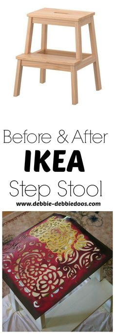 Before and after Ikea step stool makoever