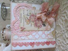 Pink hearts and roses. Hearts And Roses, Pink Hearts, Vintage Cards, Frame, Home Decor, Picture Frame, Decoration Home, Room Decor, Frames