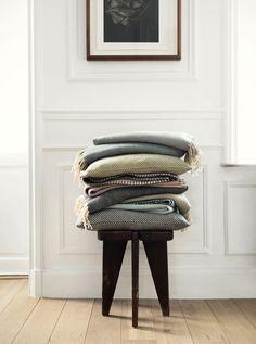 HAYWORTH throws and cushion covers from Linum AW16   Photographer: Jonas Ingerstedt  Stylist: Edin Memic Kjellertz & Karin Ward