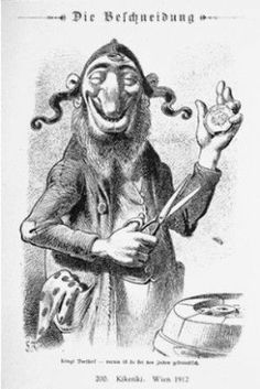 Caricature from the antisemitic Viennese magazine Kikeriki