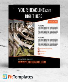 Cycling Studio Flyer Template For Spinning Programs On FitTemplates