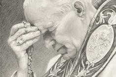 Praying the daily rosary... JPII's favorite prayer <3