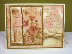 Stamps: SU Botanicals, Magenta - Floral Postcard, sentiment CHF Essential Expressions Paper: PTI Vintage Cream, Ripe Avacado, watercolor paper Ink: Vintage Photo Accessories: twine