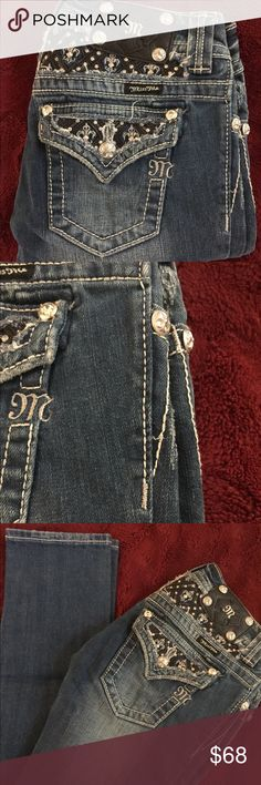 Miss Me Jeans Miss Me Jeans Straight leg size 25. Worn only a couple times then grew out of them. In great condition. Miss Me Jeans Straight Leg