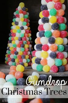 Christmas Gumdrop Trees! A craft for xmas that shows a step-by-step picture tutorial