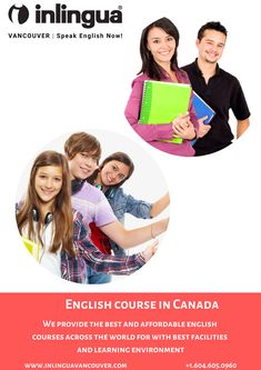 English course in Canada provides the best and affordable english courses with the top skilled team of teachers. English Study, Learn English, English Course, Learning Environments, Vancouver, Have Fun, Canada, Teacher, Good Things