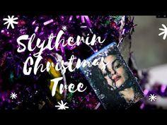 Slytherin Miniature Christmas Tree Tour - YouTube Miniature Christmas Trees, Slytherin, Harry Potter, Miniatures, Tours, Artwork, Artist, Youtube, Work Of Art