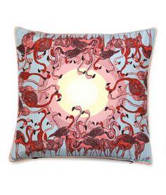 Flamingo Flurry Cushion