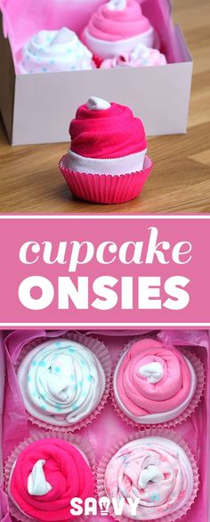 Cupcake Onsies #babyshowergirl