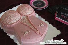 bachelorette party/lingerie shower- corset cake.