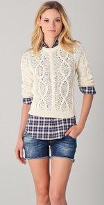 Crop Sweater & Button Down