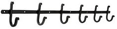 6-Hook Coat Rack with Plain Hooks in Matte Black | House of Antique Hardware $21