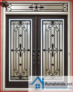 Trendy steel furniture wrought iron home Iron Window Grill, Window Grill Design Modern, Grill Door Design, Main Entrance Door Design, Front Door Design, Entrance Doors, Home Door Design, Iron Front Door, Front Doors