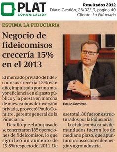 La Fiduciaria: Resultados durante 2012 en el diario Gestión de Perú (26/02/13)