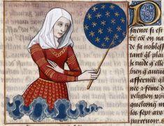 Miniature from a 15th century Boccacio manuscript