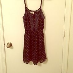 Black patterned dress Unique and fun dress. Staring at Stars brand from Urban Outfitters Urban Outfitters Dresses