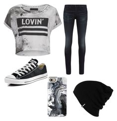 """""""Lovin"""" by gretchenlover ❤ liked on Polyvore featuring Religion Clothing, rag & bone, Converse, Patagonia and Casetify"""