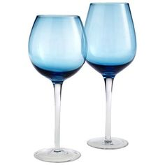 Turquoise with Clear Stem Stemware