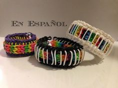 Sailors Pinstripe Pulsera de gomitas con el Rainbow Loom. Video en Español