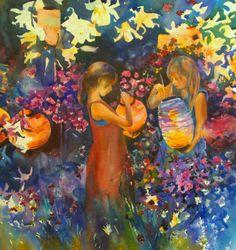 silk lanterns painted - Google Search