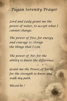 Pagan Serenity Prayer by AbsyntheMyndedArt.deviantart.com