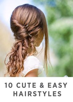 Just in time for the holidays, these 10 hairstyles are cute and easy for girls!