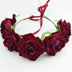Boho Flower Adjustable Flower Crown Hair Accessories