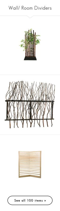 """""""Wall/ Room Dividers"""" by dragonflyy86 ❤ liked on Polyvore featuring home, home decor, greenery, bamboo home decor, eclectic home decor, wall art, building, tree branch wall art, cyan design and branch home decor"""